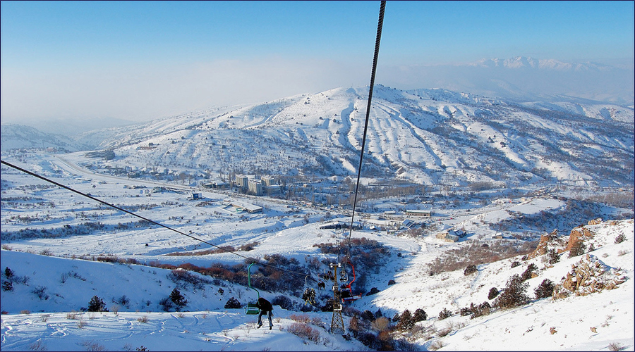 Chimgam Mountain in Tashkent