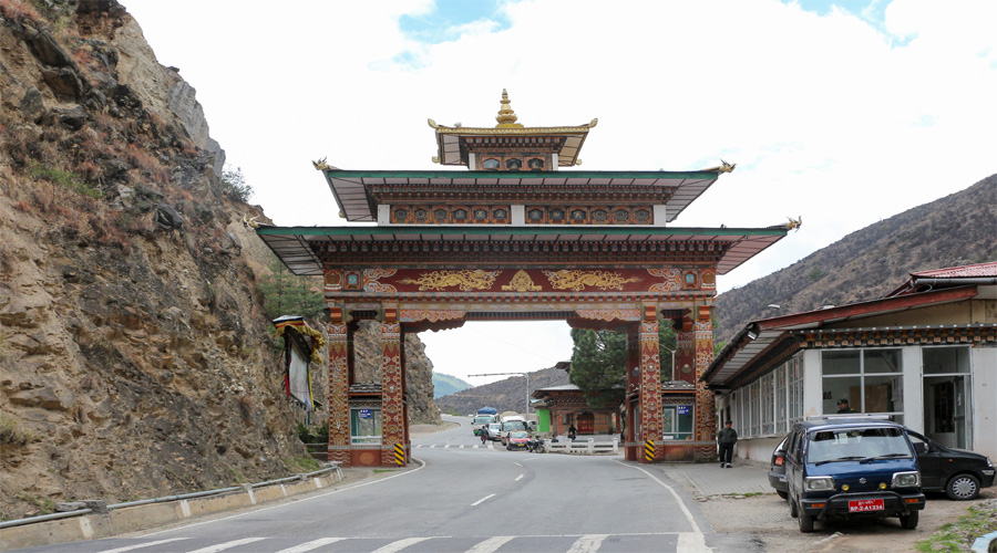 Gate at Chuzom,Thimpu