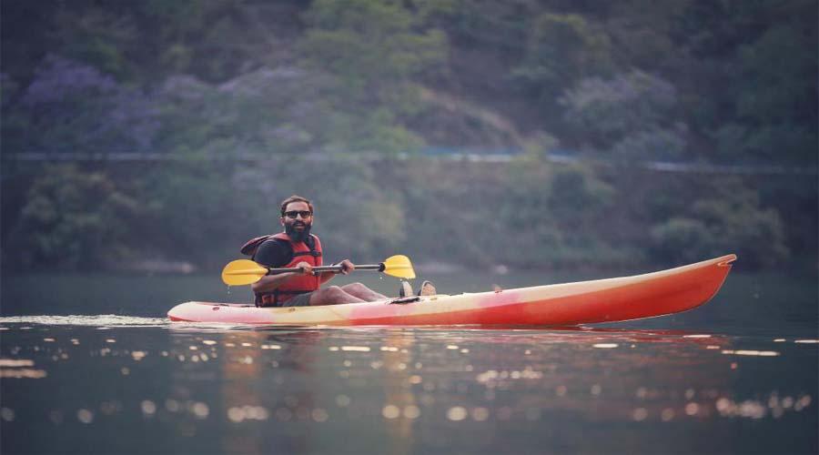 Kayaking at Naini Lake