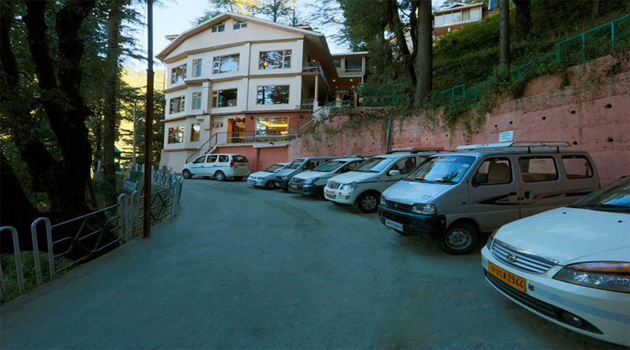 Parking area Fairmount Shimla