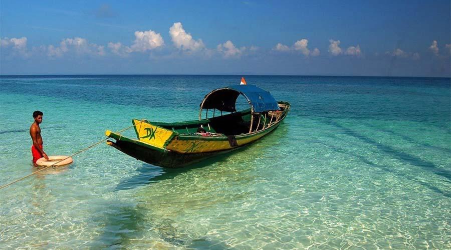 Radhanagar to Elephant Beach by Boat