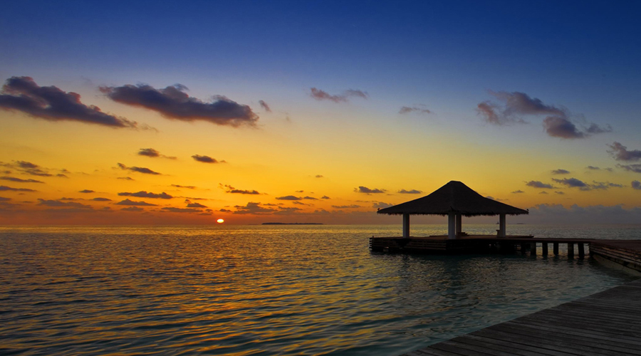Sun set Maldives