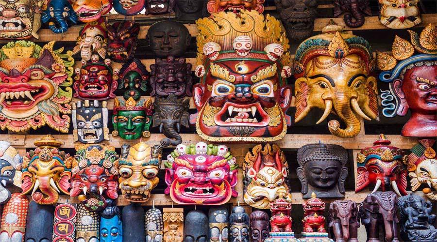 Wooden Mask Nepal