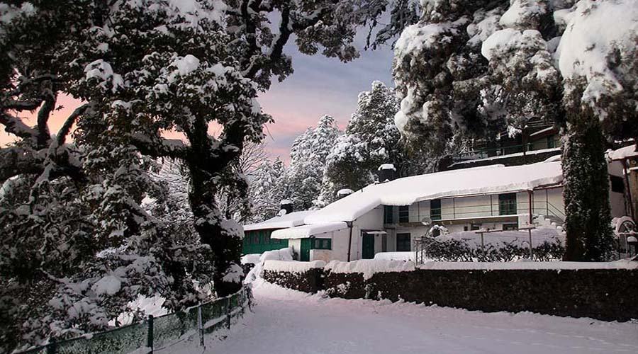 Snow at Mussoorie