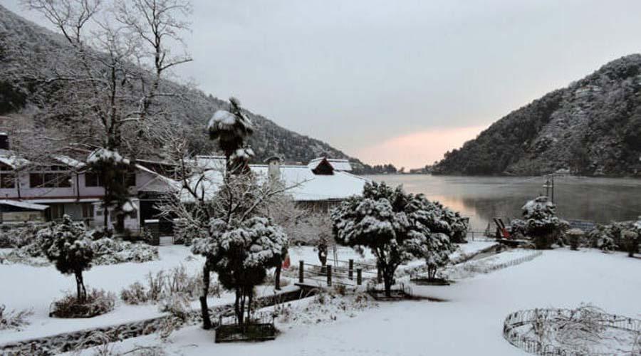 Snow at Nainital