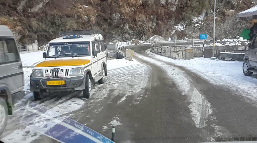 snow at Gangtok
