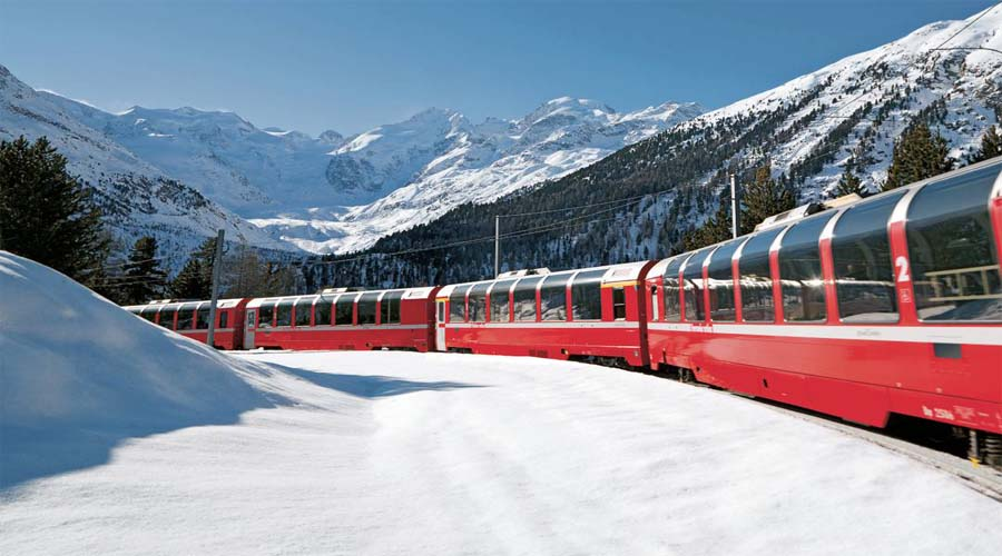 Swiss Rail Glaciers