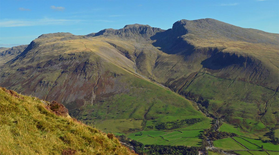 Lake district scafell pike