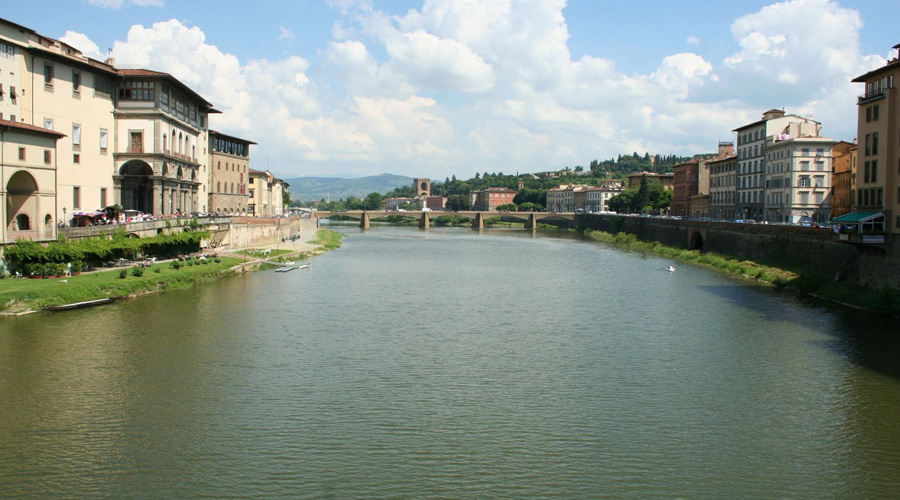 Ponte Vecchio Bridge on the Arno River