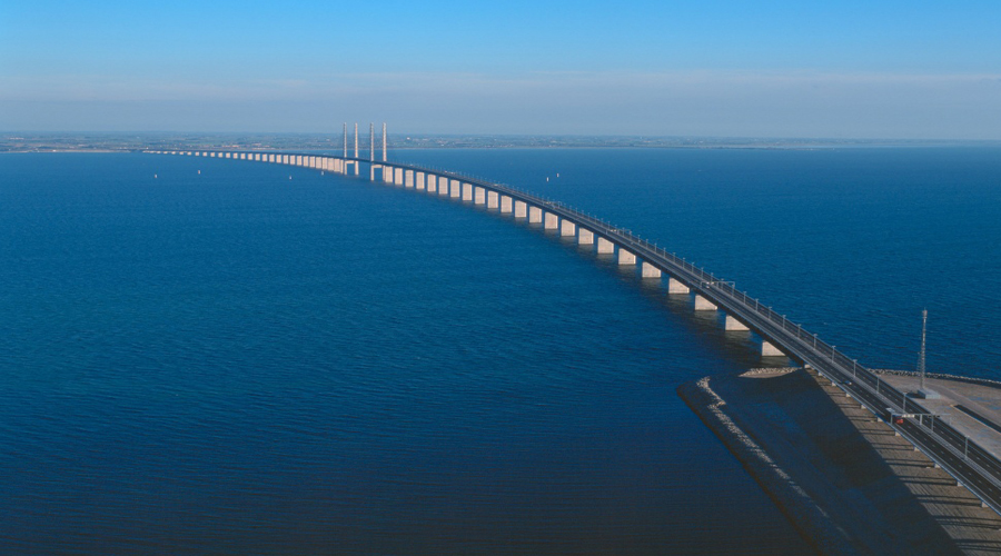 Bridge connecting Sweden with Denmark