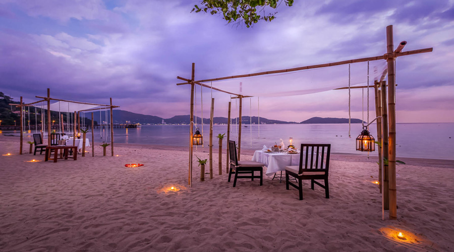 Candle Light Dinner on Beach