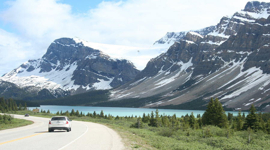 Banff to Jasper by road
