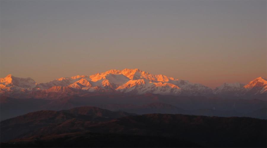 Kanchenjunga sun rise in Darj