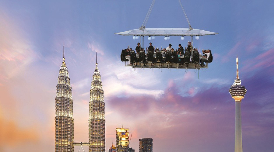 kl tower with dinner