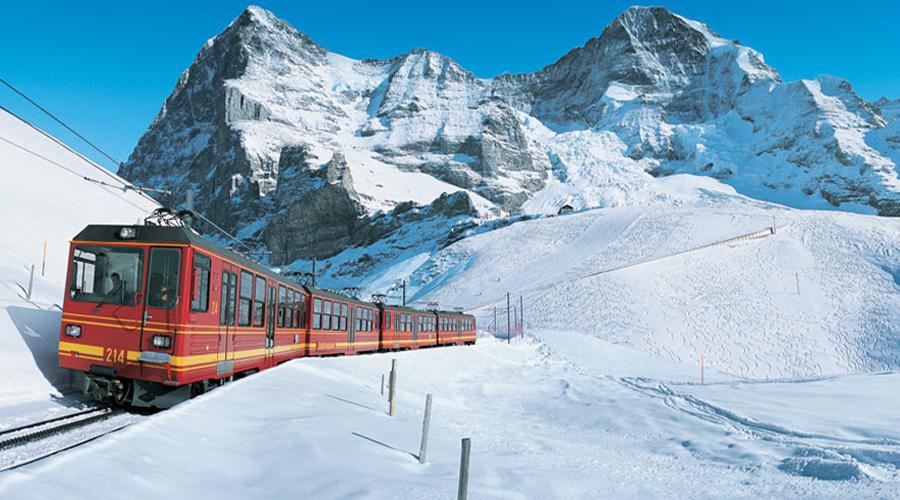 mountain train tripInterlaken  Jungfrau Top of Eu