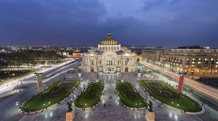 Palace Bellas Artes at Night, Mexico