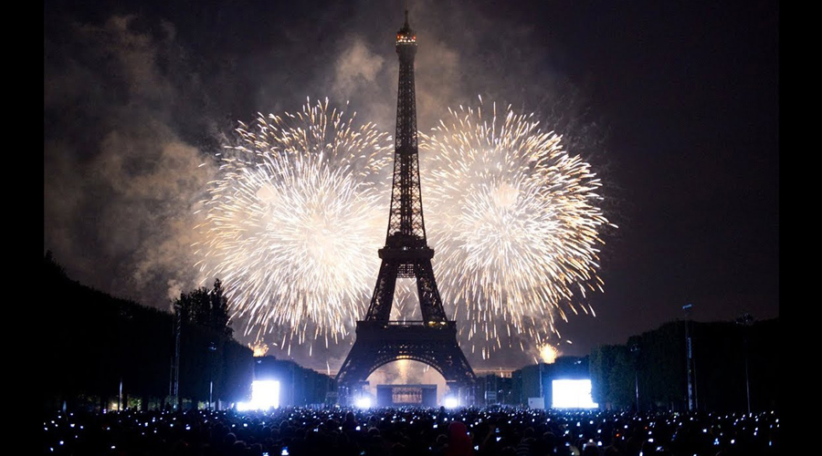New Year Celebration Paris