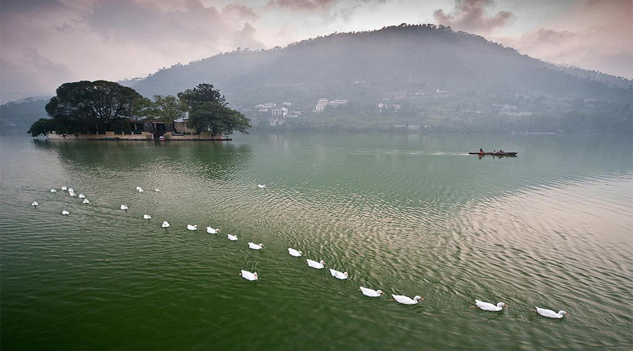 Sattal Lake in Bhimtal