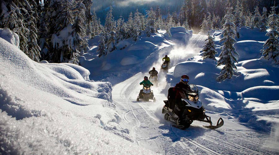 Snow mobile tour, Whistler