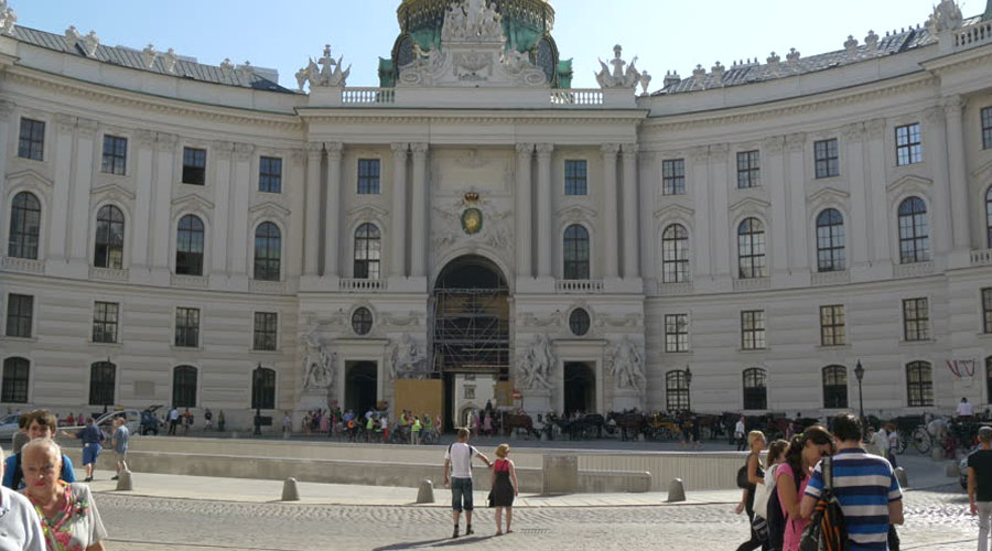the former Habsburg winter residence, Vienna