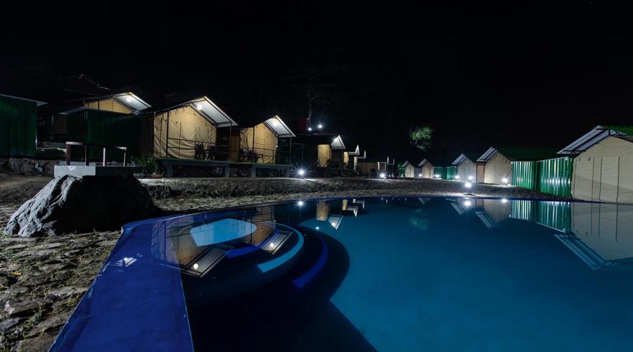 Bagheera River Retreat Night View