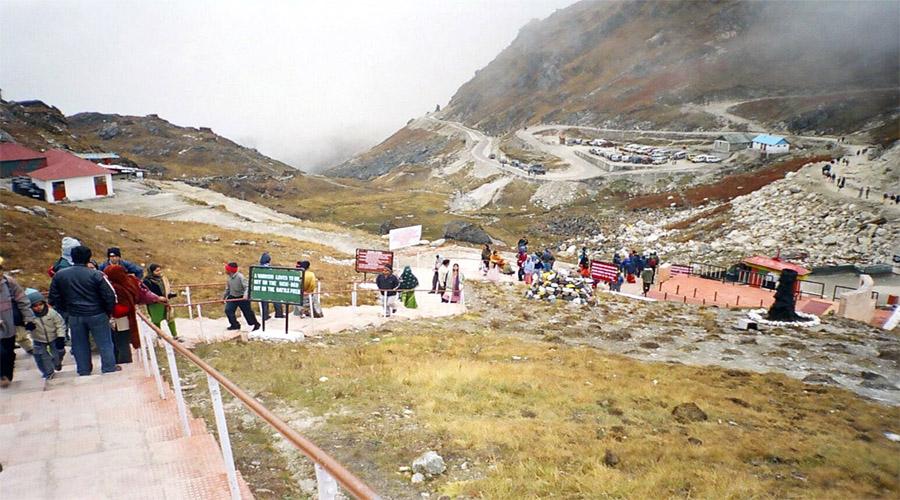 Way to Nathula Pass in Gangtok